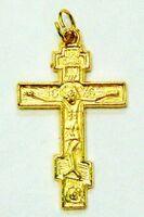 Крест нательный металл (2-46) давленый цвет золото