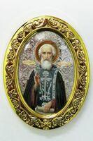 Сергий Радонежский. Икона настольная малая, овал.