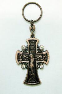 Брелок Крест Иерусалим бронза (140)
