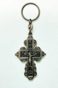 Брелок Крест Иерусалим бронза (141)