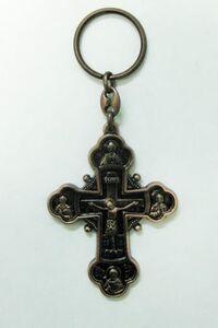 Брелок Крест Иерусалим бронза (151)