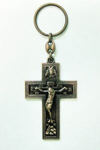 Брелок Крест Иерусалим бронза (114)