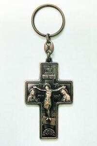 Брелок Крест Иерусалим бронза (148)