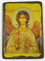 Ангел Хранитель, икона под старину (19 Х 27)