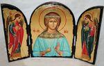 Вера Св.Мч., с Архангелами, традиционный Афонский складень 35 Х 24 см.
