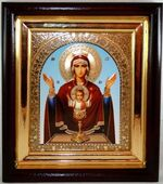 Неупиваемая чаша Б.М. Средняя аналойная икона, арка, цвет 22 Х 25 см.