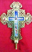 Крест запрестольный металл (05) резной