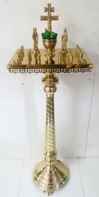 Крышка панихидного стола на 36 свечей, на подставке, с херувимами