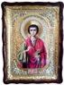 Пантелеймон (пояс), в фигурном киоте, с багетом. Храмовая икона 60 Х 80 см.