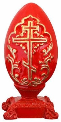 Яйцо пасхальное на подст. 10,5 Х 5 см.