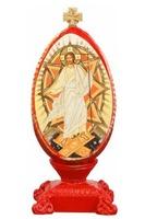 Спаситель (яйцо пасхальное). Икона настольная, овал, на подст. 12 Х 5 см.