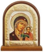 Казанская Б.М. Икона настольная арка на подст. большая, с фигурным багетом 14 Х 11 см