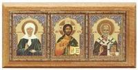 Триптих (№ 23), Матрона Московская., дерево, полигр., скотч